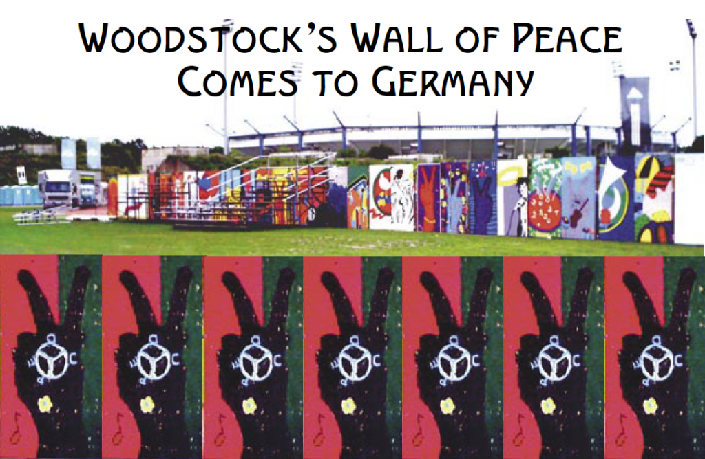 """Wooden Panels from The """"Wall of Peace"""" Woodstock 99, Rome"""