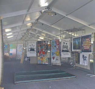 "ART TENT, NUREMBERG 2005, ""YOUNG & FREE"""